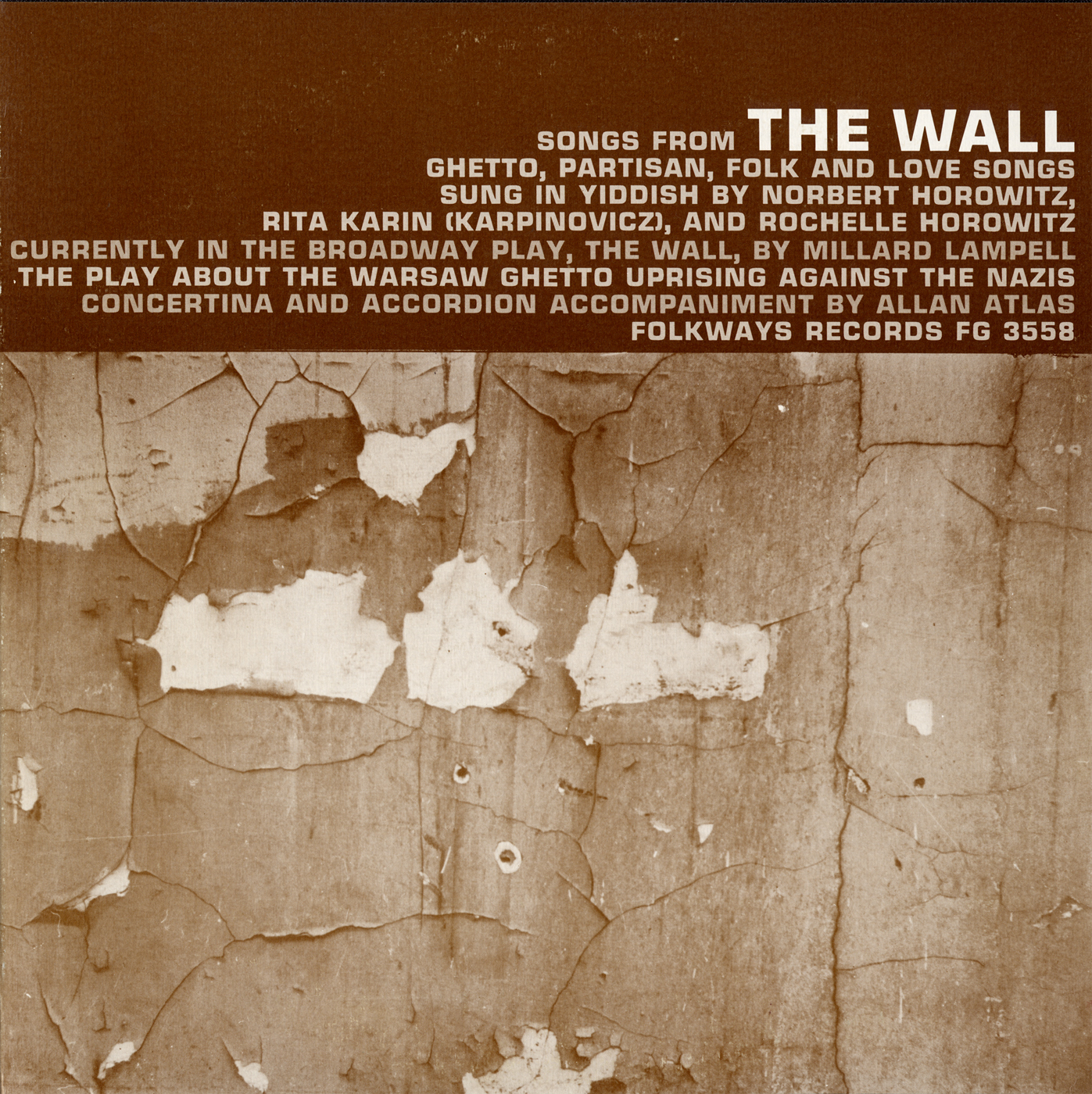 Songs From The Wall The Play About The Warsaw Ghetto