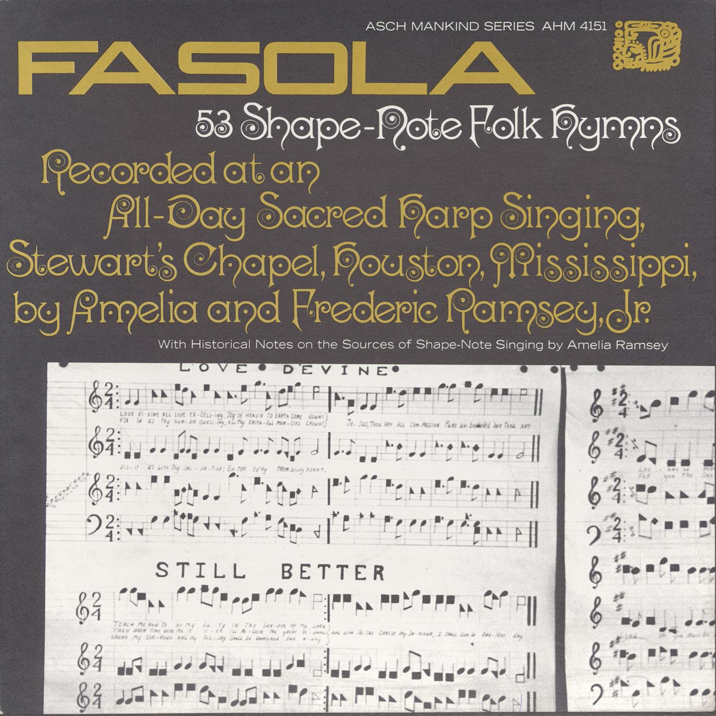 Fasola Fifty Three Shape Note Folk Hymns All Day Sacred