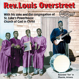 Reverend Louis Overstreet With His Sons and Congregation of St. Lukes Powerhouse Church of God in Christ