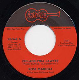 Philadelphia Lawyer / Sally Let Your Bangs Hang Down