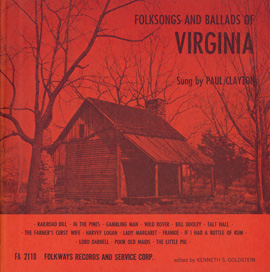 Folksongs and Ballads of Virginia
