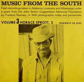 Music from the South, Vol. 3: Horace Sprott, 2