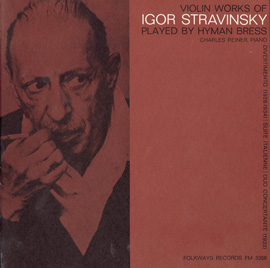 Violin Works of Igor Stravinsky