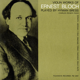 Violin Works of Ernest Bloch