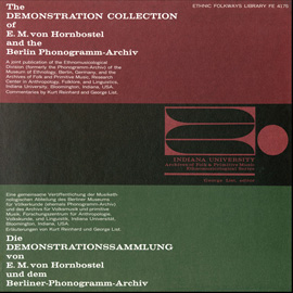 The Demonstration Collection of E.M. von Hornbostel and the Berlin Phonogramm-Archiv