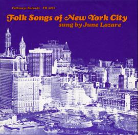 Folk Songs of New York City, Vol. 1