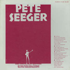 Pete Seeger Sings and Answers Questions