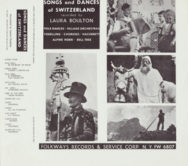 Songs and Dances of Switzerland