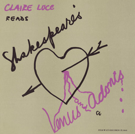 Claire Luce Reads Venus & Adonis: By William Shakespeare