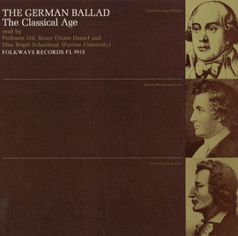 The German Ballad (The Classical Age): Read by Eric Bauer and Brigitt Schaidnagl