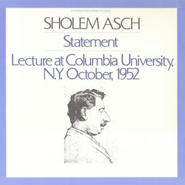 Lecture: In October 1952 at Columbia University