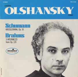 Schumann: Kreisleriana, Op. 16; Brahms: 3 Intermezzi from Op. 119