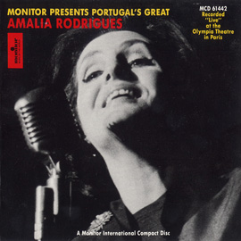 Portugal's Great Amália Rodrigues Live at the Olympia Theatre in Paris