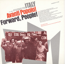 Italy: Avanti Popolo! (Forward People!)