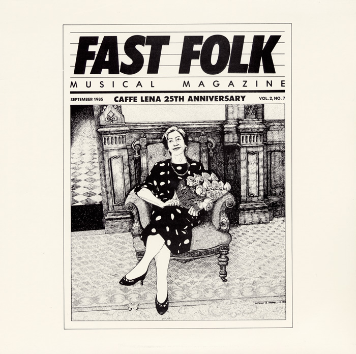 Fast Folk Musical Magazine (Vol. 2, No. 7) Cafe Lena - 25th Anniversary Concert
