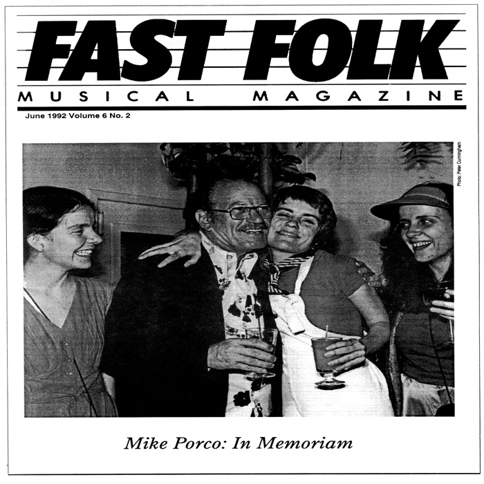 Fast Folk Musical Magazine (Vol. 6, No. 2) Mike Porco In Memoriam