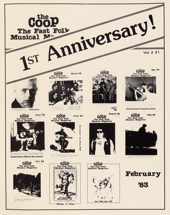 CooP - Fast Folk Musical Magazine (Vol. 2, No. 1) First Anniversary