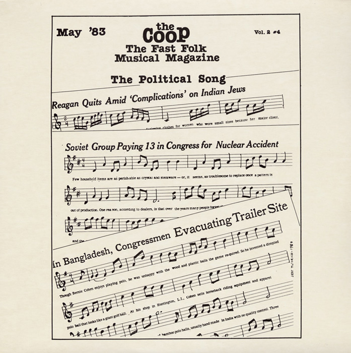 CooP - Fast Folk Musical Magazine (Vol. 2, No. 4) Political Song