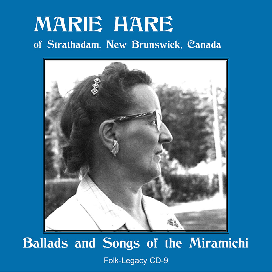 Marie Hare of Strathadam, New Brunswick, Canada, CD artwork