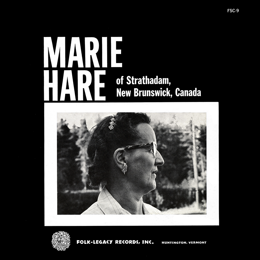 Marie Hare of Strathadam, New Brunswick, Canada, LP artwork