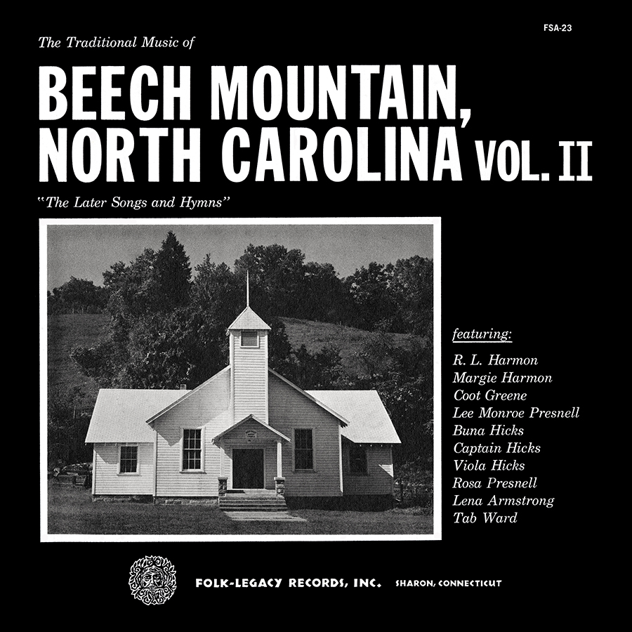 The Traditional Music of Beech Mountain, North Carolina, Vol. 2: The Later Songs and Hymns, LP artwork