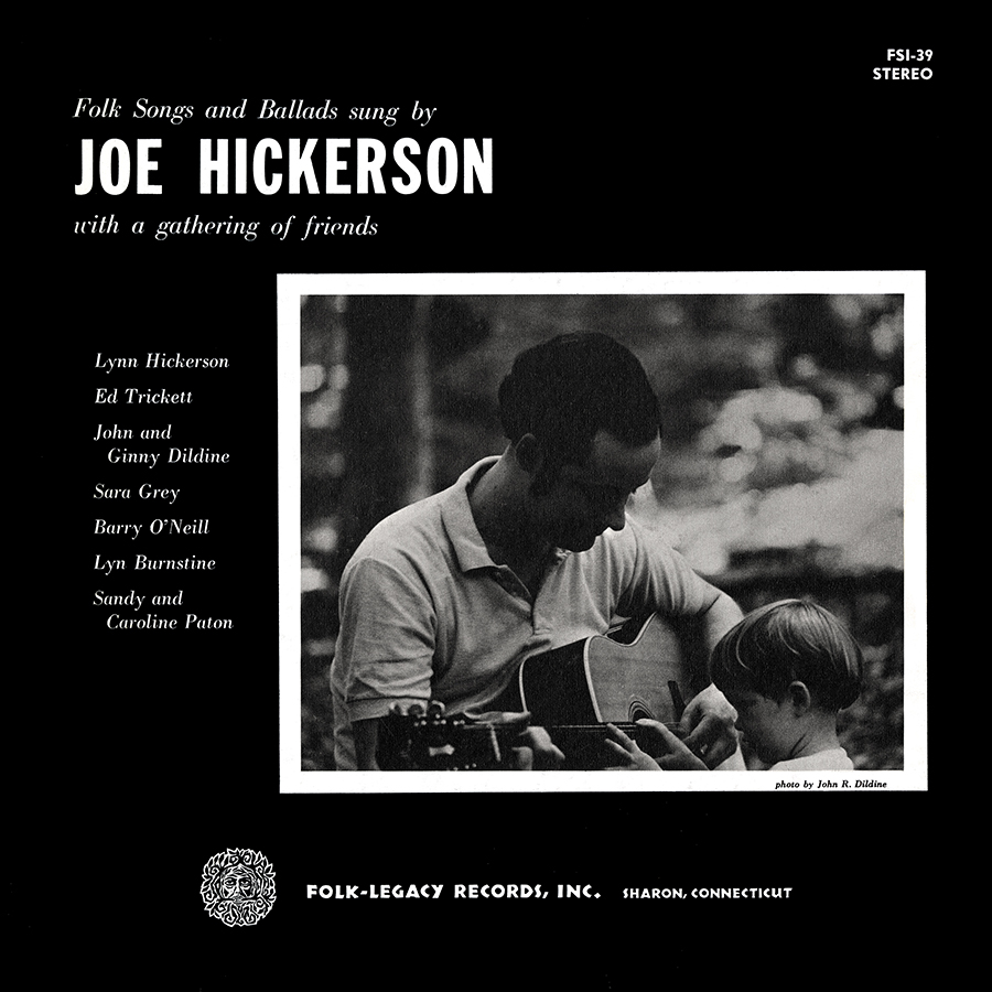 Joe Hickerson with a Gathering of Friends, LP artwork