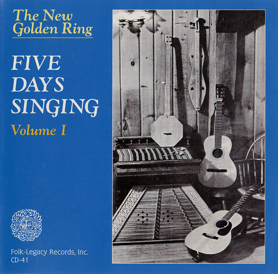 Five Days Singing, Volume 1, CD artwork