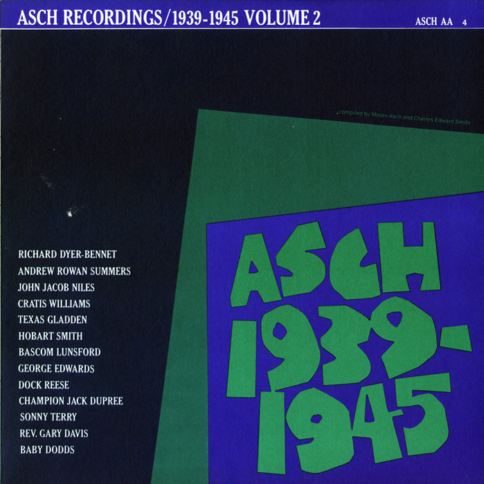 The Asch Recordings, 1939 to 1945 - Vol. 2
