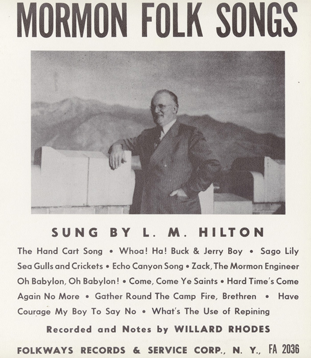 Mormon Folk Songs