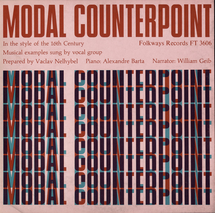 Modal Counterpoint in the Style of the 16th Century Prepared by Vaclav Nelhybel