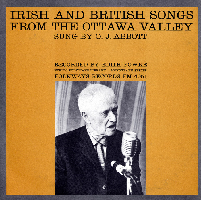 Irish and British Songs from the Ottawa Valley