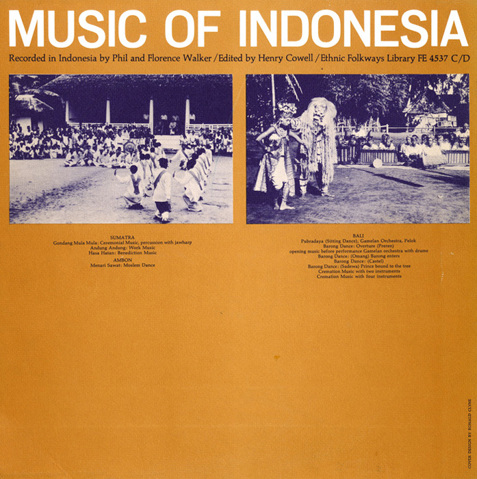 Music of Indonesia, Vol. 1 and Vol. 2