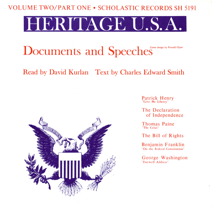Heritage USA, Vol. 2, Part 1: Documents and Speeches