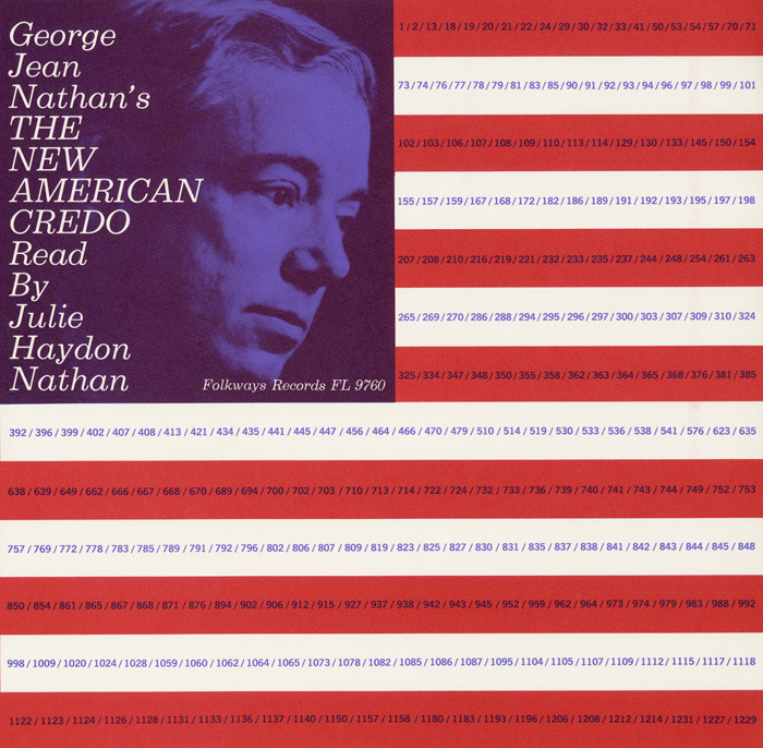 George Jean Nathan's The New American Credo