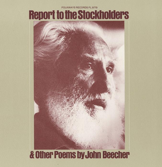 Report to the Stockholders: Poems by John Beecher