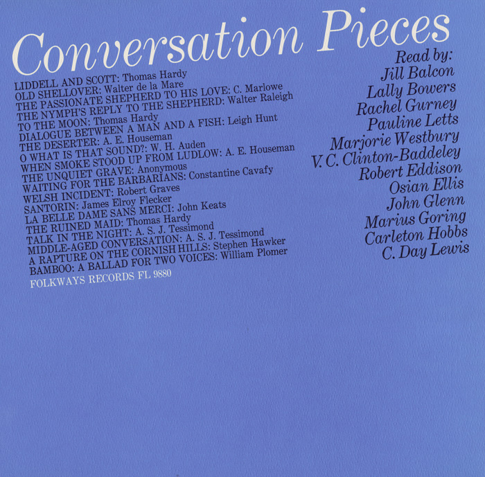 Conversation Pieces: Read By Jill Balcon, Lally Bowers, Rachel Gurney, Pauline Letts, Marjorie Westbury, etc.