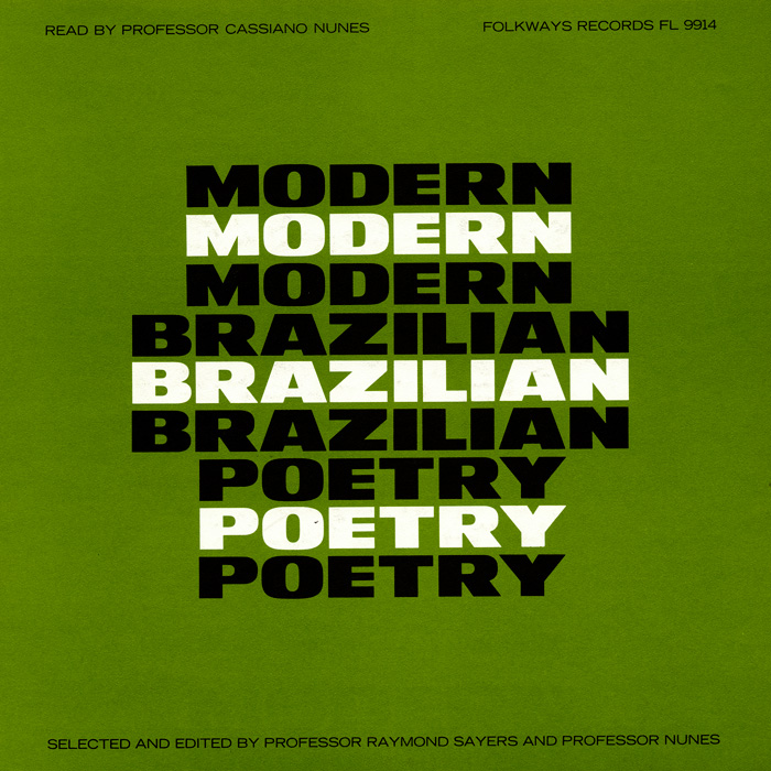 Modern Brazilian Poetry: Read by Professor Cassiano Nunes