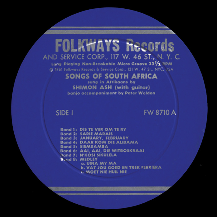 Songs of South Africa: Sung in Afrikaans