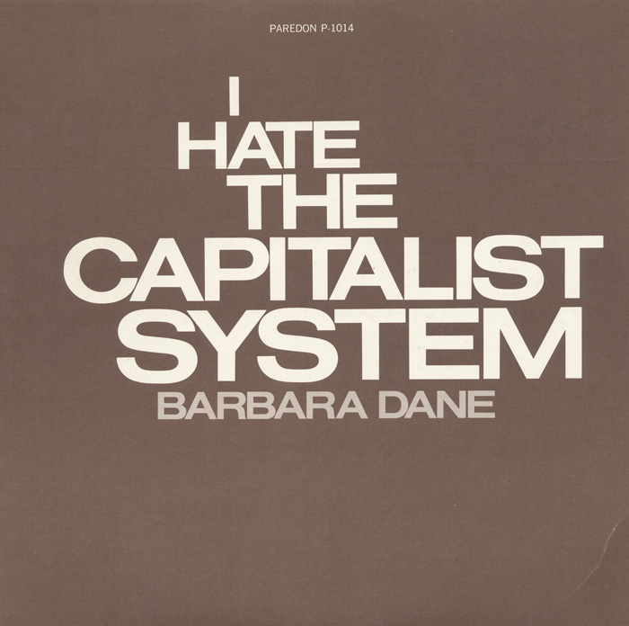 I Hate the Capitalist System album cover, 1973