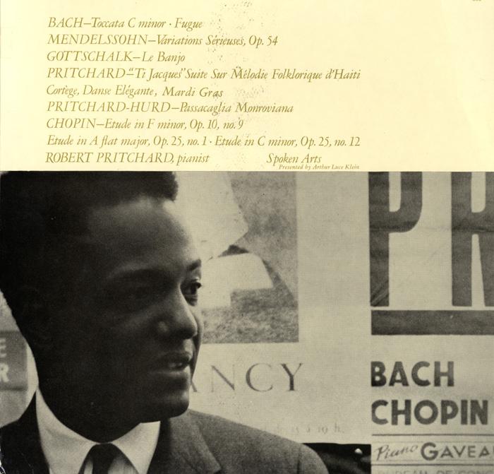 Robert Pritchard, Pianist