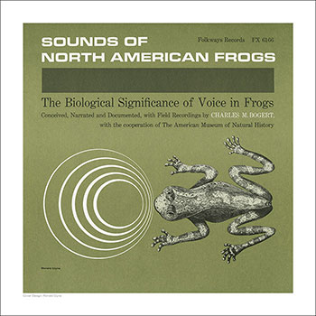 Cover Art Print - Sounds of North American Frogs