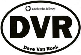 Dave Van Ronk Oval Sticker