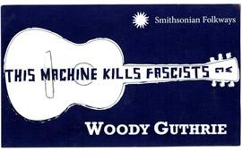 """""""This Machine Kills Fascists"""" Sticker"""