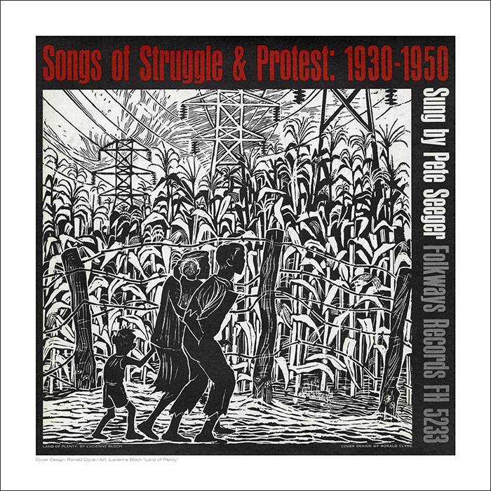 Cover Art Print - Songs of Struggle and Protest