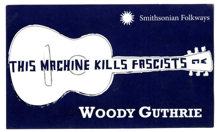 """This Machine Kills Fascists"" Sticker"