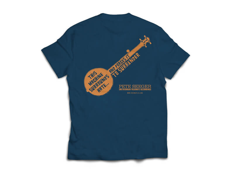 Woody Guthrie/Pete Seeger T-Shirt Back