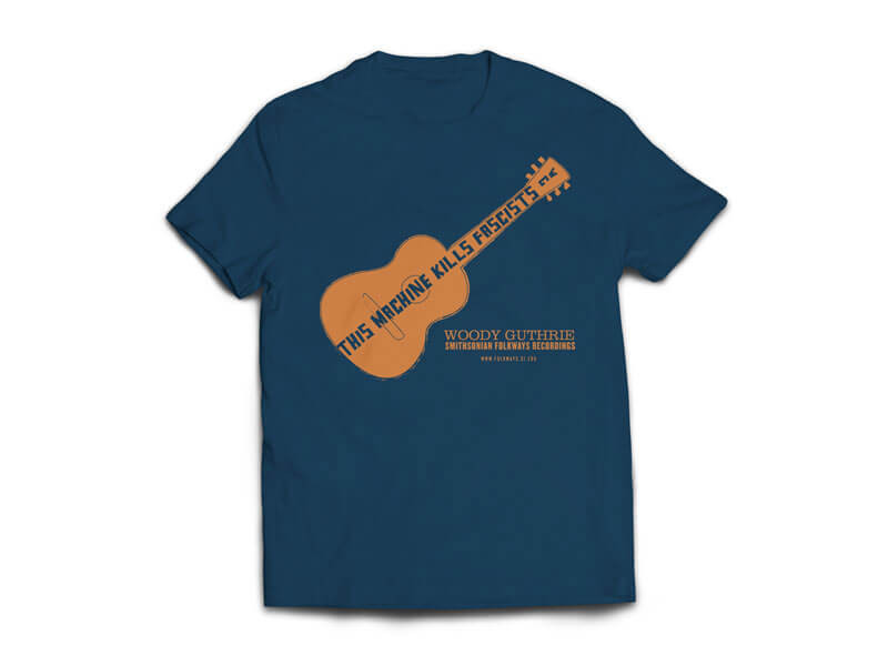 Woody Guthrie/Pete Seeger T-Shirt Front
