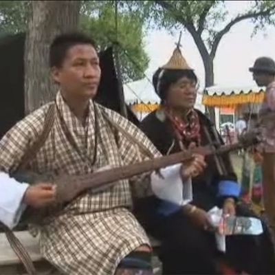 Sonam Dorji Performs at the 2008 Smithsonian Folklife Festival