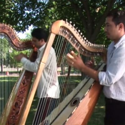 Marcelo Rojas and Miguel Prado Perform a Harp Duet at 2009 Smithsonian Folklife Festival