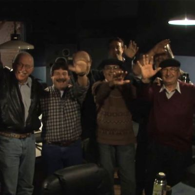 "In the studio with ""Los Gauchos de Roldán"""